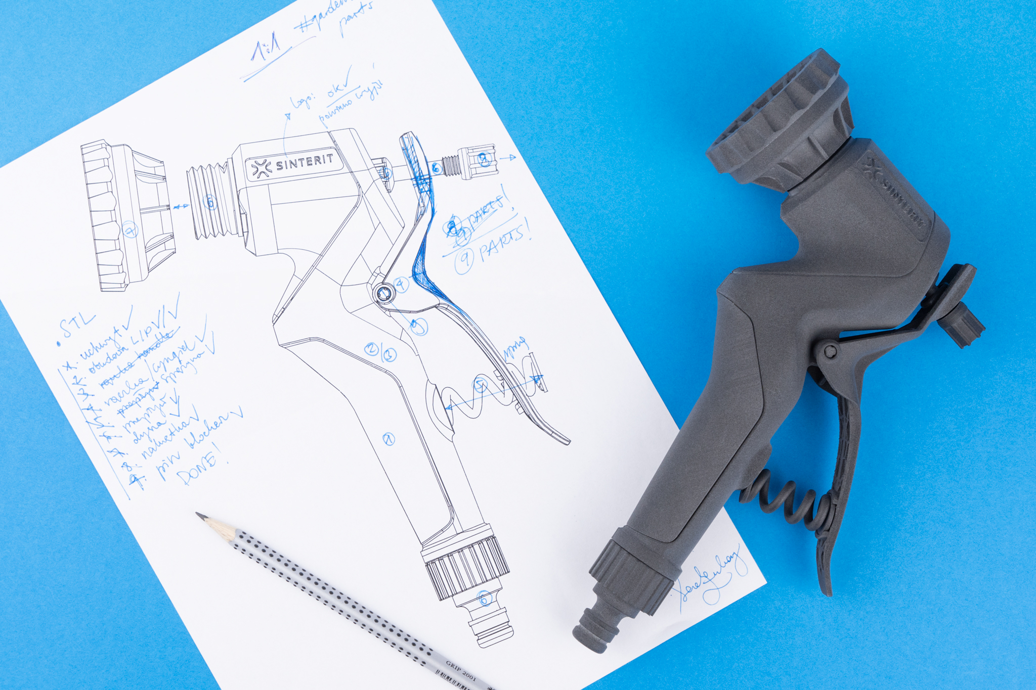 Garden hose nozzle prototype
